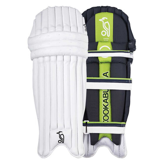 Kookaburra Kahuna Pro 1000 Junior Cricket Pads White / Green Small Junior, White / Green, rebel_hi-res