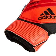 adidas Predator Top Fingersave Replica Goalkeeper Gloves Red / Black 8, Red / Black, rebel_hi-res