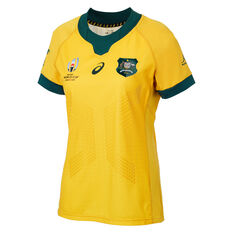 Wallabies 2019 Rugby World Cup Womens Home Jersey Gold 8, Gold, rebel_hi-res