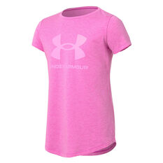 Under Armour Girls Sportstyle Tee Pink XS, Pink, rebel_hi-res