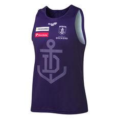 Fremantle Dockers 2021 Mens Training Singlet Purple S Purple, Purple, rebel_hi-res