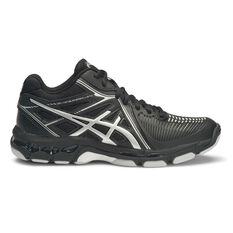Asics Gel Netburner Ballistic MT Womens Netball Shoes Black / Silver US 6, Black / Silver, rebel_hi-res