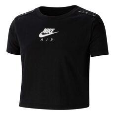 Nike Girls Sportswear Nike Air Cropped Tee Black / White XS, Black / White, rebel_hi-res