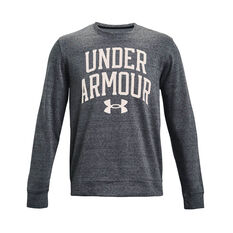 Under Armour Mens Rival Terry Crew Grey XS, Grey, rebel_hi-res