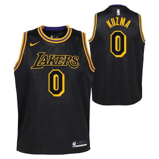 Nike Los Angeles Lakers Kyle Kuzma 2020/21 Kids Mamba City Edition Jersey, Black, rebel_hi-res