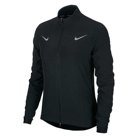 Nike Womens Running Jacket, Black, rebel_hi-res