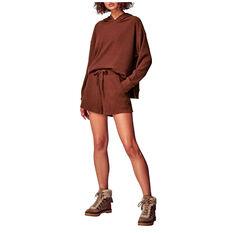 Running Bare Womens Time Out Lounge Shorts Chestnut 8, Chestnut, rebel_hi-res