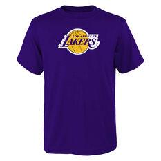 Los Angeles Lakers Kids Primary Logo Tee Purple S, Purple, rebel_hi-res