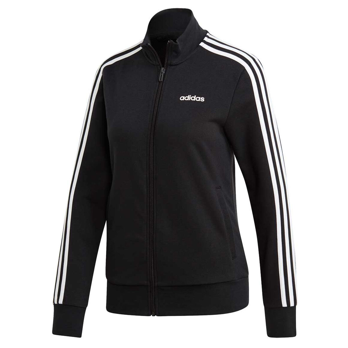 Adidas black & gold 3 stripes track jacket L