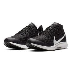 Nike Air Zoom Pegasus 36 Kids Running Shoes, Black / White, rebel_hi-res