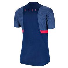 Nike Womens Dri FIT Academy Soccer Tee Blue XS, Blue, rebel_hi-res