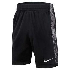 Nike Trophy Boys Printed Training Shorts Black / White XS, Black / White, rebel_hi-res