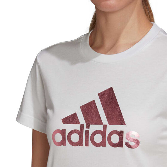 adidas Womens Athletics Graphic Tee, White, rebel_hi-res