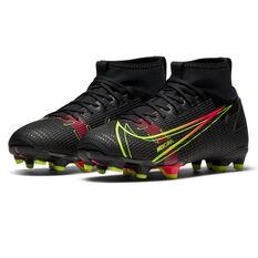 Nike Mercurial Superfly 8 Academy Kids Football Boots, Black, rebel_hi-res