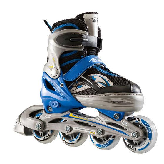 Blade X Slider Adjustable Boys Skates Blue / Grey S, Blue / Grey, rebel_hi-res