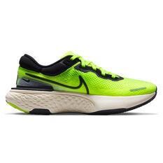 Nike ZoomX Invincible Run Flyknit Mens Running Shoes Volt/Black US 7, Volt/Black, rebel_hi-res