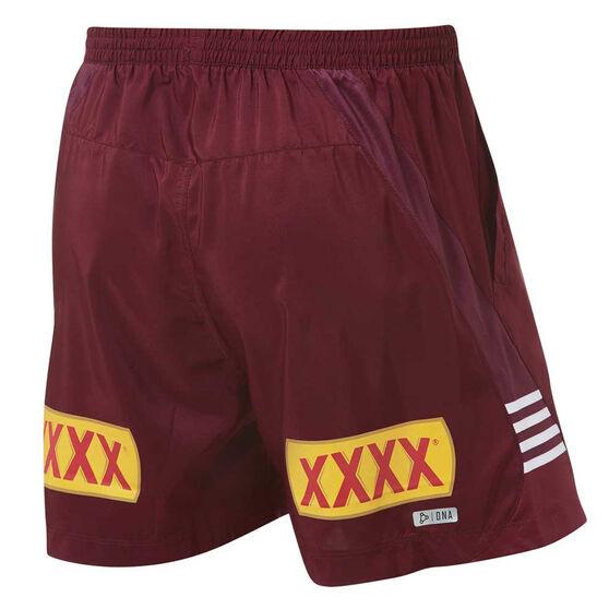 QLD Maroons State of Origin 2019 Mens Training Shorts, Maroon, rebel_hi-res