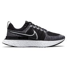 Nike React Infinity Run Flyknit 2 Mens Running Shoes White/Black US 7, White/Black, rebel_hi-res