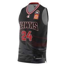 Illawarra Hawks Dang Adel 20/21 Mens Home Jersey Black XS, Black, rebel_hi-res