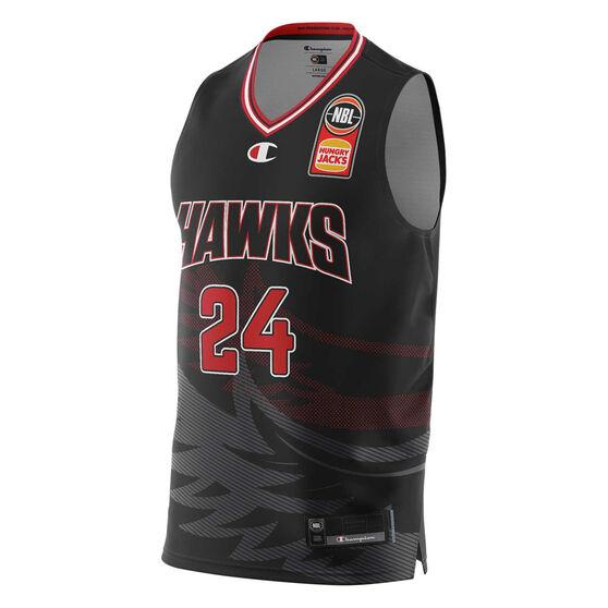 Illawarra Hawks Dang Adel 20/21 Mens Home Jersey, Black, rebel_hi-res