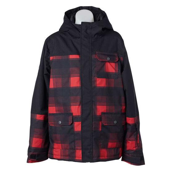 Elude Mens Javi Ski Jacket, Black / Red, rebel_hi-res