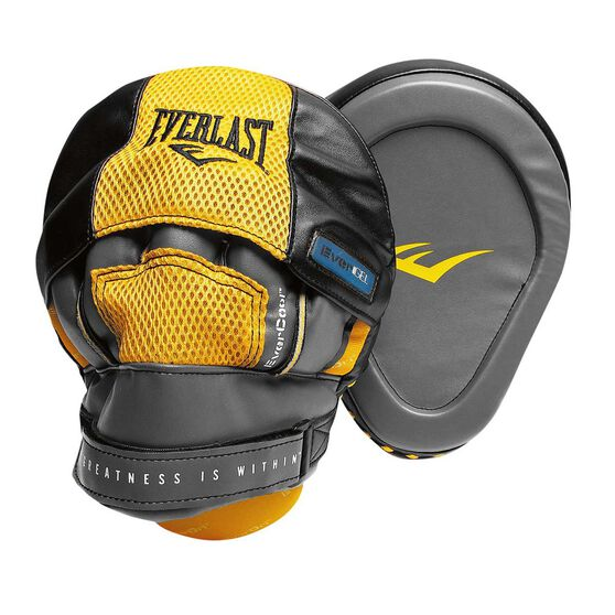 Everlast Evergel Focus Pads Black / Yellow, , rebel_hi-res