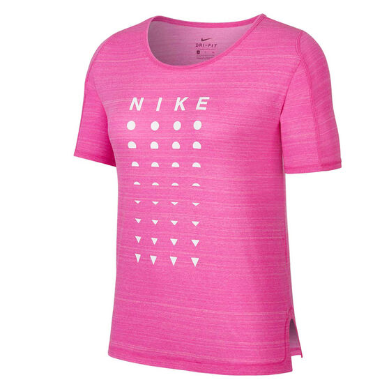 Nike Womens Icon Clash Running Tee Pink S, Pink, rebel_hi-res