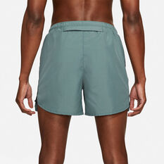 Nike Mens Run Division Challenger 5in Running Shorts Green S, Green, rebel_hi-res