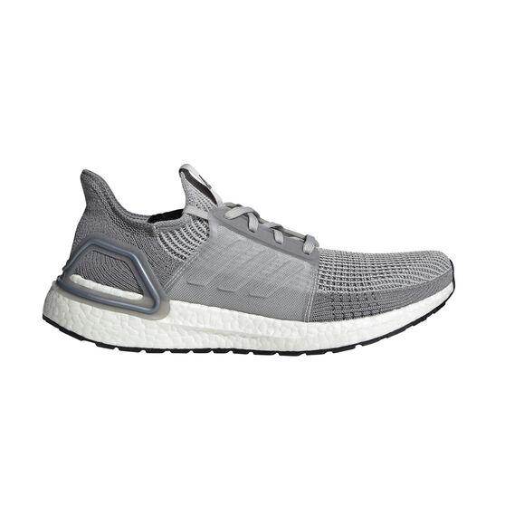 adidas Ultraboost 19 Mens Running Shoes, Grey, rebel_hi-res