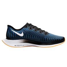 Nike Zoom Pegasus Turbo 2 Mens Running Shoes Black / White US 7, Black / White, rebel_hi-res