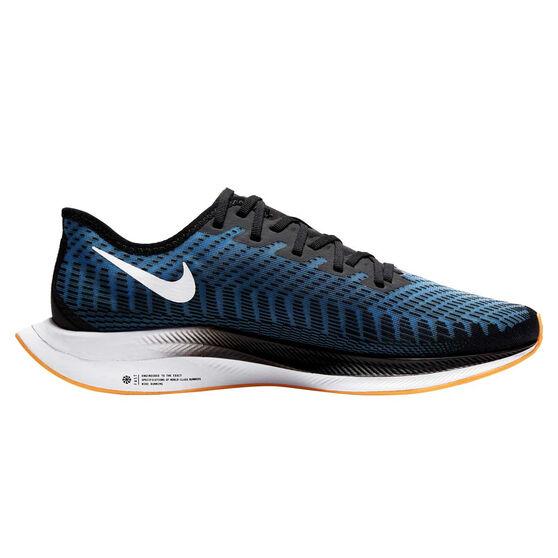 Nike Zoom Pegasus Turbo 2 Mens Running Shoes Black / White US 8, Black / White, rebel_hi-res
