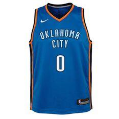 Nike Oklahoma City Thunder Russell Westbrook 2019 Kids Swingman Jersey Signal Blue S, Signal Blue, rebel_hi-res