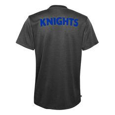 Newcastle Knights 2021 Kids Performance Tee, Black, rebel_hi-res