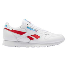 Reebok Classic Leather Casual Shoes White/Red US 4, White/Red, rebel_hi-res