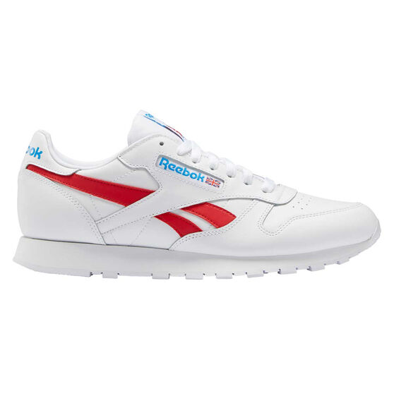 Reebok Classic Leather Casual Shoes, White/Red, rebel_hi-res
