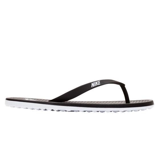 Nike On Deck Womens Thongs, Black/White, rebel_hi-res