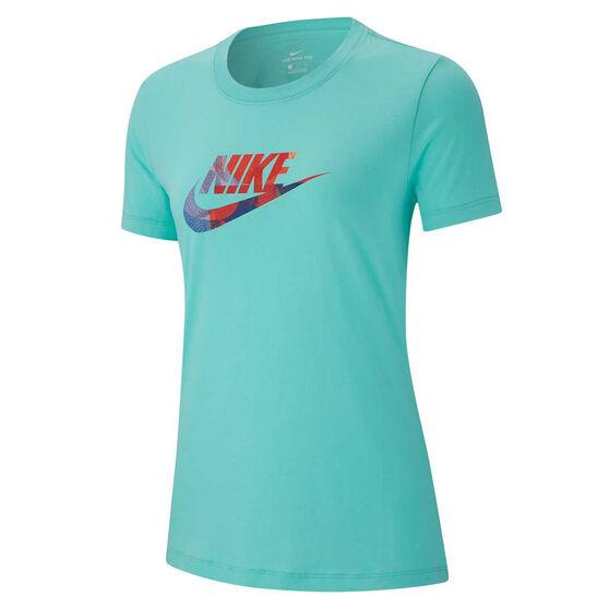 Nike Womens Sportswear Tee Aqua XS, Aqua, rebel_hi-res