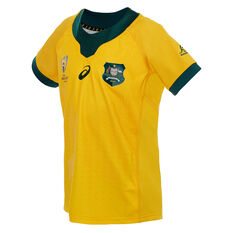 Wallabies 2019 Rugby World Cup Kids Home Jersey Gold 10, Gold, rebel_hi-res