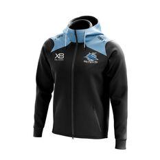 Cronulla-Sutherland Sharks 2019 Zip Hoodie Black / Blue S, Black / Blue, rebel_hi-res