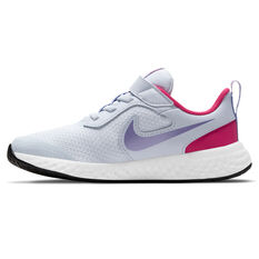 Nike Revolution 5 Kids Running Shoes Grey/Purple US 12, Grey/Purple, rebel_hi-res