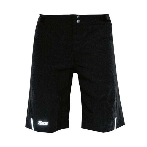 Netti Mens Shy Cycling Shorts, Black, rebel_hi-res
