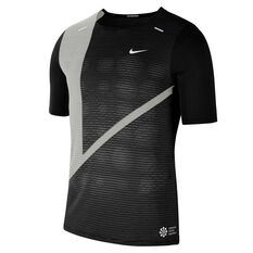 Nike Mens Rise 365 Future Fast Running Tee Black S, Black, rebel_hi-res