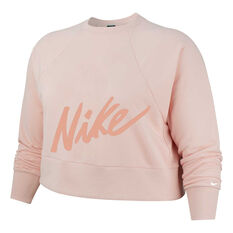 Nike Womens Crop Training Top Plus Pink XL, Pink, rebel_hi-res