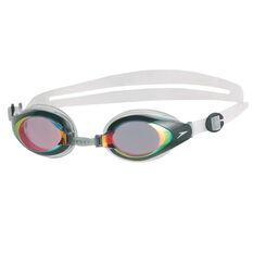 Speedo Mariner Red Mirror Swim Goggles, , rebel_hi-res