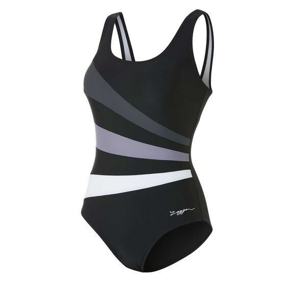 7b5fc3600b4 Zoggs Womens Sandon Scoopback Swimsuit Black 10