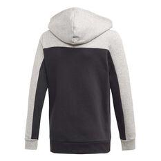 adidas Boys Sport ID Full-Zip Hoodie Grey / Black 6, Grey / Black, rebel_hi-res