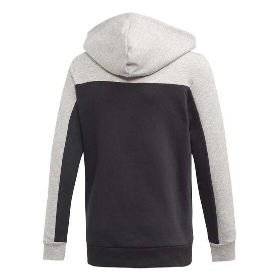 adidas Boys Sport ID Full-Zip Hoodie Grey / Black 8, Grey / Black, rebel_hi-res
