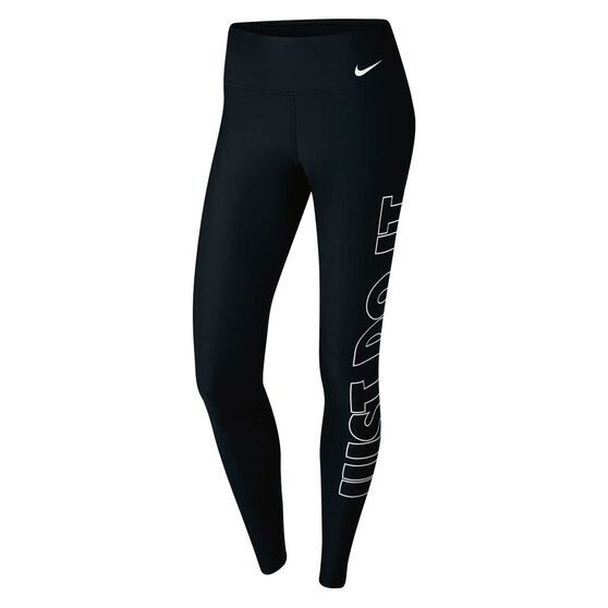 5ee96e882 Nike Womens Power Just Do It Training Tights Black   White XS ...