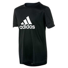 adidas Boys Gear Up Tee Black / White 8, Black / White, rebel_hi-res