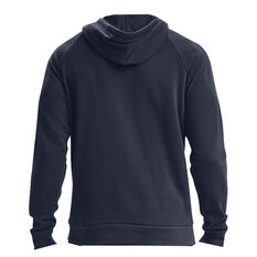 Under Armour Mens Rival Cotton Hoodie Navy XS, Navy, rebel_hi-res